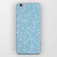 Abstraction Outline Sky Blue iPhone & iPod Skin