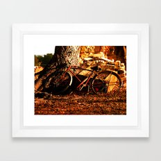 the afternoon bicycle.  Framed Art Print