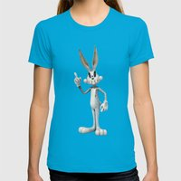 Skull Bunny Womens Fitted Tee Teal SMALL