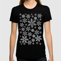 Winter Wander Womens Fitted Tee Black SMALL