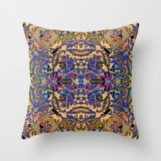 Laced Purple Throw Pillow