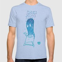 002_rain Mens Fitted Tee Athletic Blue SMALL