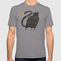 JUNGLE CAT Mens Fitted Tee Tri-Grey SMALL