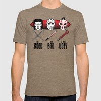Hockey Mask Evolution Mens Fitted Tee Tri-Coffee SMALL