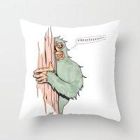 Bigfoote Throw Pillow