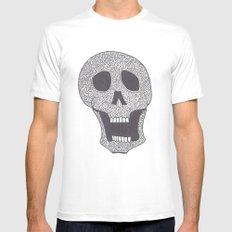 Celtic Skull Mens Fitted Tee White SMALL
