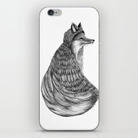 Fox- Feathered. iPhone & iPod Skin