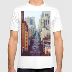 Which Starbucks? White Mens Fitted Tee SMALL