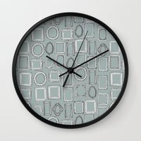 Picture Frames Grey Wall Clock