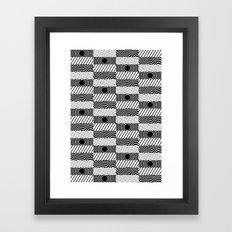 Pulsing Divide Framed Art Print