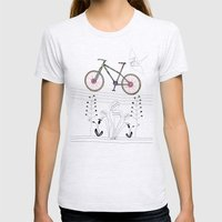 Photo Bicycle Womens Fitted Tee Ash Grey SMALL