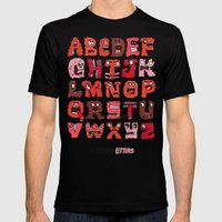 Angry Letters Mens Fitted Tee Black SMALL