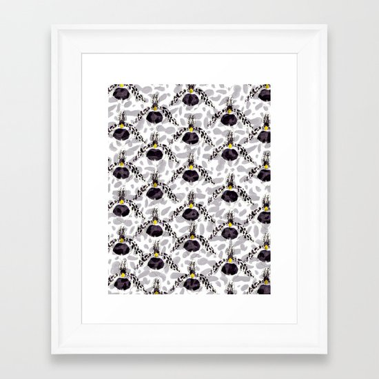 Orchid Pattern II Framed Art Print