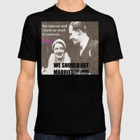 Let's marry the internet! Mens Fitted Tee Black SMALL