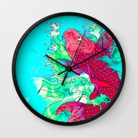 Lucky Koi Wall Clock