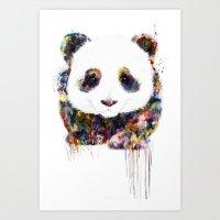 panda Art Prints featuring panda by ururuty