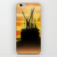 Silhouette of a Ship iPhone & iPod Skin