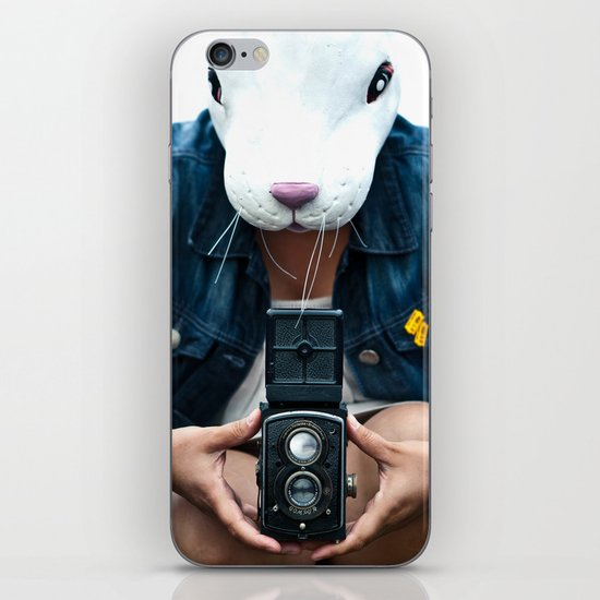 Bunny in a lavender field. iPhone & iPod Skin