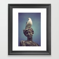 You can never have enough hats, gloves or shoes. Framed Art Print