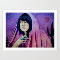 The Setter Of Desert Sun… Art Print