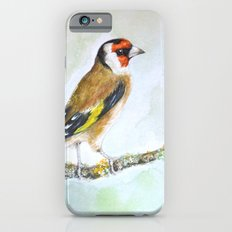 European goldfinch on tree branch iPhone 6 Slim Case