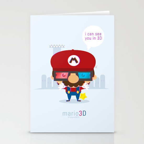 mario 3d Stationery Card