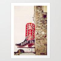 Heritage Boots Art Print