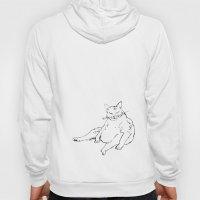 Fat Cat illustration Hoody