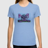 Delyla's Bunny Womens Fitted Tee Athletic Blue SMALL