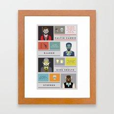 Django Unchained Character Poster Framed Art Print