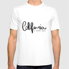 California i love you  Mens Fitted Tee White SMALL