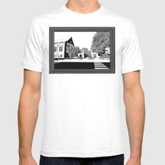bloomington III White Mens Fitted Tee SMALL