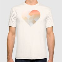 Danish Heart Coral Mens Fitted Tee Natural SMALL