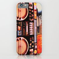 iPhone & iPod Case featuring Planetary Boombox by JustinPotts