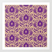 Flower Ikat Art Print