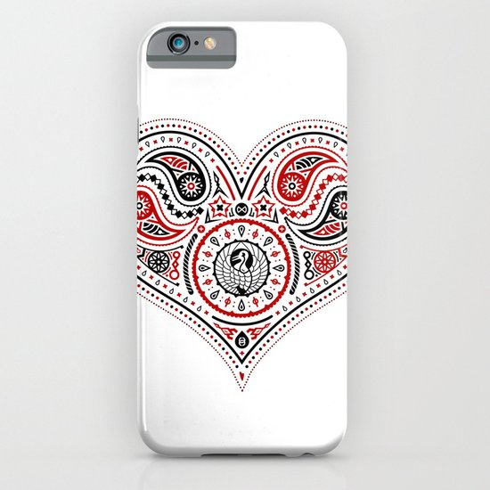 83 Drops - Hearts (Red & Black) iPhone & iPod Case