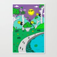 Day & Night Trippy Canvas Print