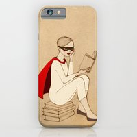 iPhone & iPod Case featuring Superhero reader by Irena Sophia