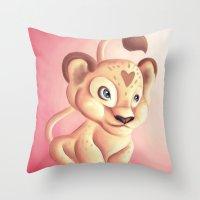 Lena Lioness Throw Pillow