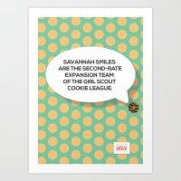 Savannah Smiles Art Print