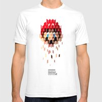 Crystal Mario Mens Fitted Tee White SMALL