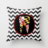 Chevron Tooth Throw Pillow