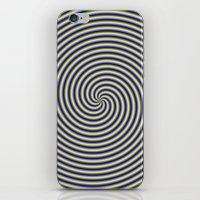 Swirl In Green Blue And … iPhone & iPod Skin