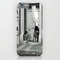 Paris, ringing the door bell iPhone 6 Slim Case