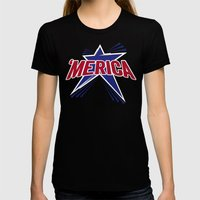 'Merica 2 Womens Fitted Tee Black SMALL