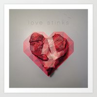 Love Stinks Art Print