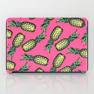 iPad Case featuring Pineapple Pattern by Georgiana Paraschiv