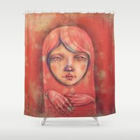 The Ghost in Pink Shower Curtain
