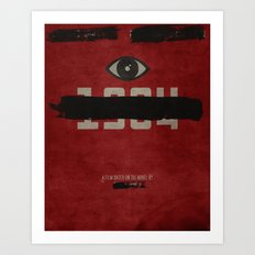 George Orwell's 1984 Ins… Art Print