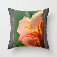 Dwarf Canna Lily named Corsica Throw Pillow